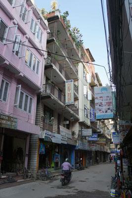 Hier wohne ich in Kathmandu...