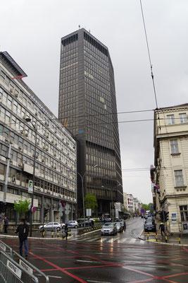 """""""Belgrad Lady"""" wird das höchste Gebäude Belgrads hier genannt - hm..."""