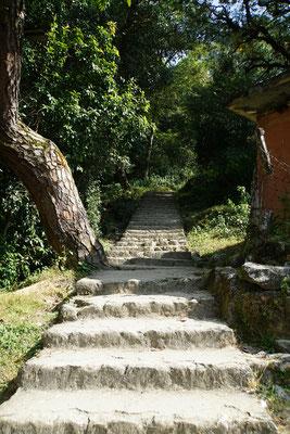 Steile, nicht enden wollende Treppen...