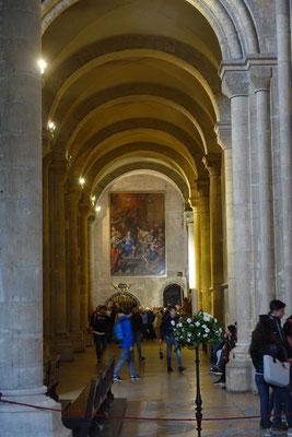 Eines der grossen Wandbilder in der Kathedrale