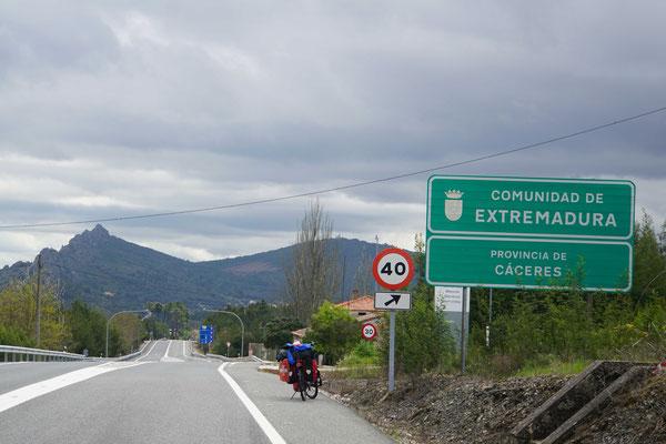 Die Extremadura begrüsst mich...