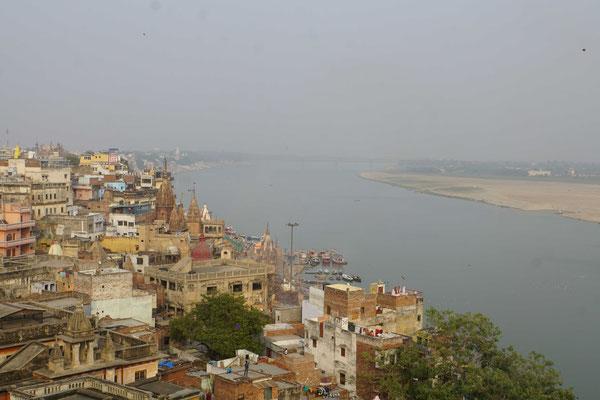 Blick über Varanasi...
