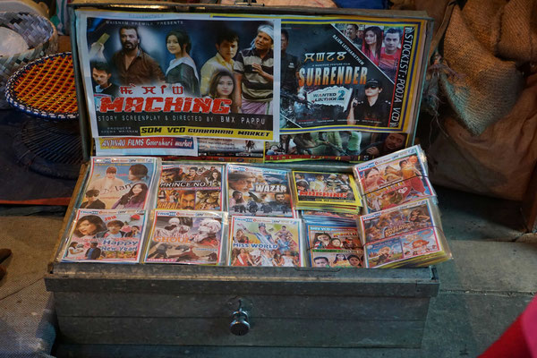 Die Videothek auf dem Markt in Imphal - ...