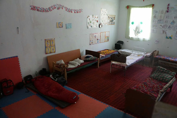 """Mein Schlafpatz im voll belegten Dormitory - doch es war """"meine Rettung"""" und absolut OK...!!!"""