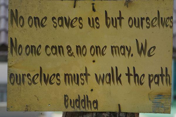 Ja, offenbar war auch Buddha auf seiner route de soi unterwegs...