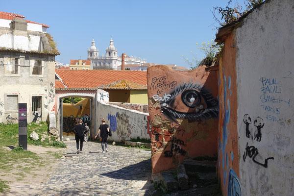 Graffitis sind geschützt und für die Touris ein Muss, diese zu sehen