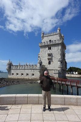 Pa vor der Torre de Belém
