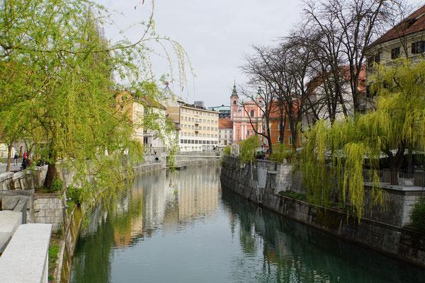 Bootsfahrt durch Ljubljana