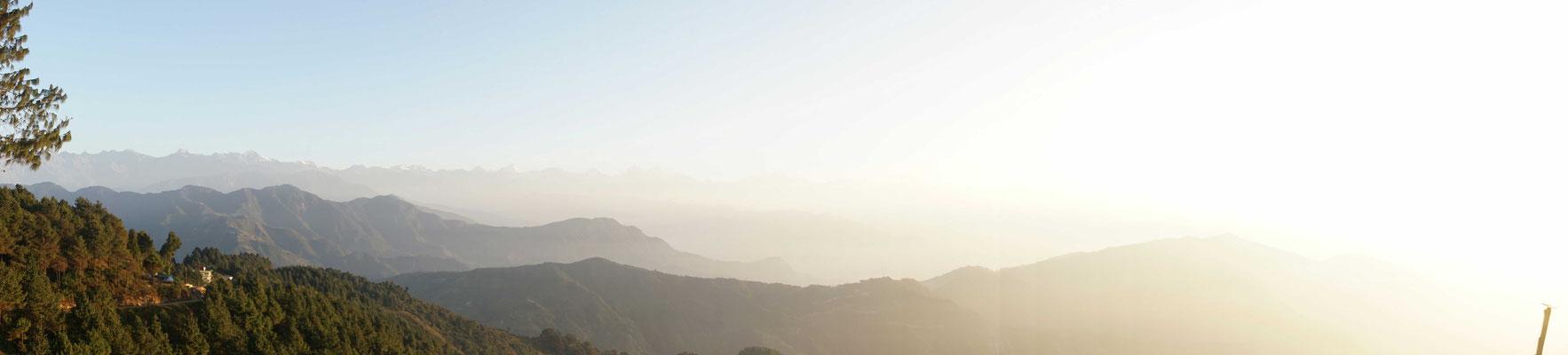 Sonnenaufgang über Chisapani