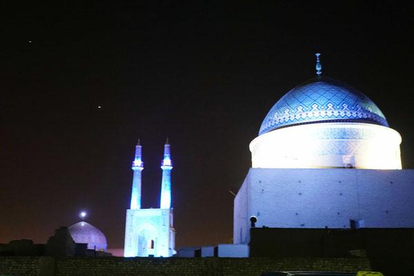 Nacht über Yazd...