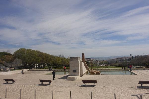 Blick über den Park bis zum TEJO