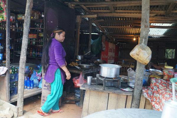 Tea-Shop beim Aussichtstrum von Nagarkot...