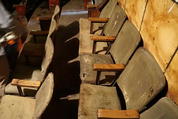 Sitze der besten Kategorie im Kino von Imphal...
