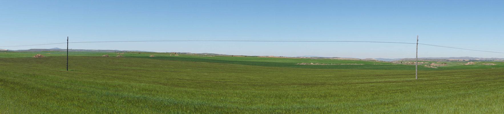 Intensive landwirtschaftliche Nutzung mit viel künstlicher Bewässerung...