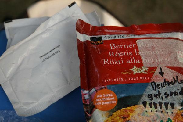Berner Röschti zum Mittagessen...