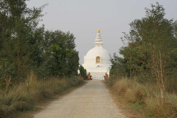 Lumbini: Auf dem Weg zur Welt-Friedens-Stupa