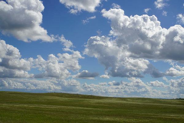 So schöne Wolken habe ich schon lange nicht mehr gesehen...