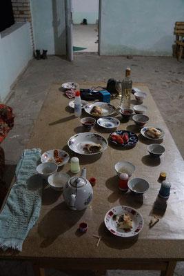 Und so sieht der Tisch aus - Spörri würde ein Kunstwerk daraus machen...