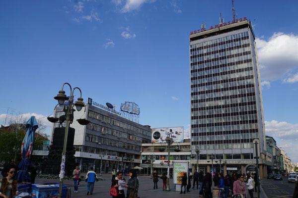 """Ein zentraler Platz in Nis - assoziiere die Architektur mit """"Osten""""..."""