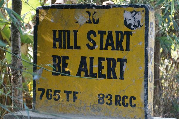 Tja, die Hills sind hier schon echt bergig - 1900 Höhenmeter auf 60 km sind da schon mal zu radeln...