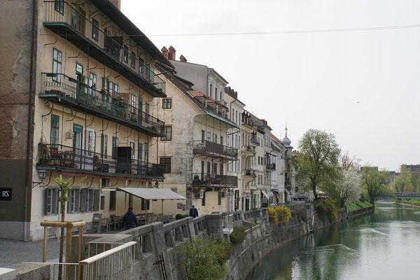 Bootsfahrt durch Ljubljana...