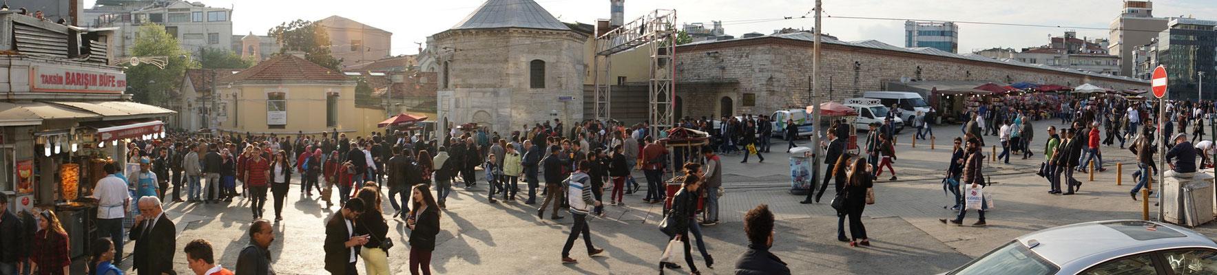 Panorama vom Taksimplatz am Abend...