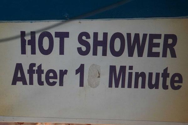 Ich musste nur eine kurze Minute auf warmes Wasser warten....