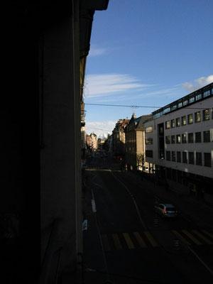 Das würdige Ziel der vierten Reise: Länggasse Bern mit Eiger im Hintergrund...!!