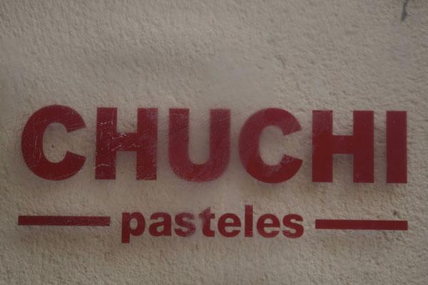 Der Sprüngli in Avila ist auf Schweizerdeutsch angeschrieben... ;-) - ich konnte dem Angebot widerstehen... WIRKLICH!!