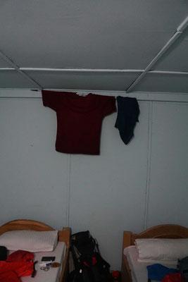 Kleider trockenen am Wanderstock...