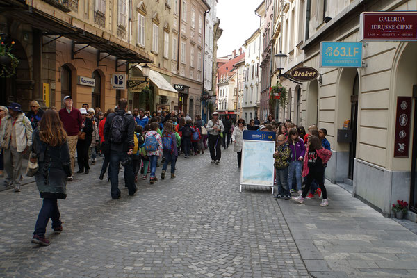 Schulklassen unterwegs in Ljubljana...