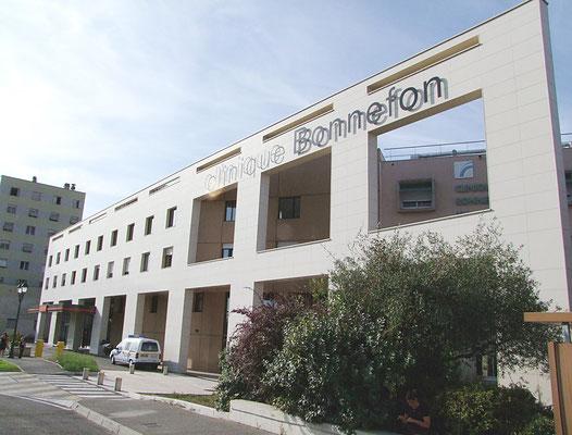 Signalétique intérieure et extérieure de la clinique Bonnefon-Alès