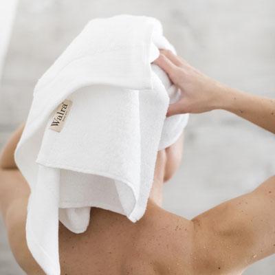 Walra handdoeken om je hoofd mee af te drogen