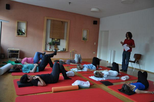 Bodenprogramm beim NeuroScanBalance Workshop in Dornbirn