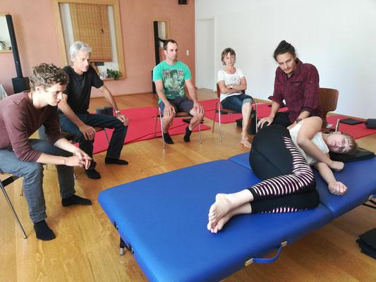 Daniel Lerch während eines NeuroScanBalance Workshops