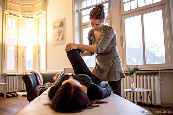 Marielle Faber bei der Arbeit