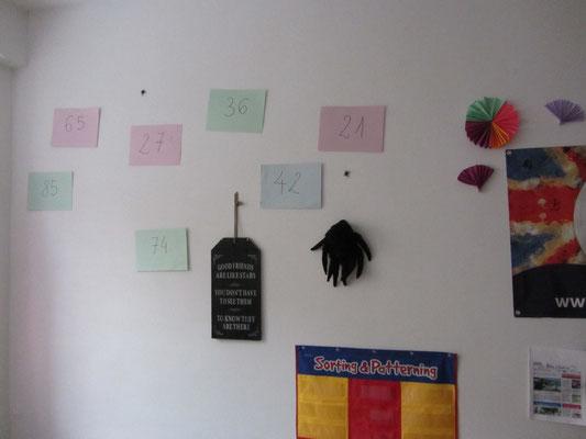 Liczby na ścianie
