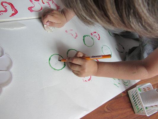 rysowanie po sercach i kołach