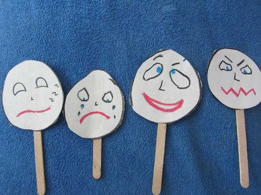 Zabawki na patyku- emocje