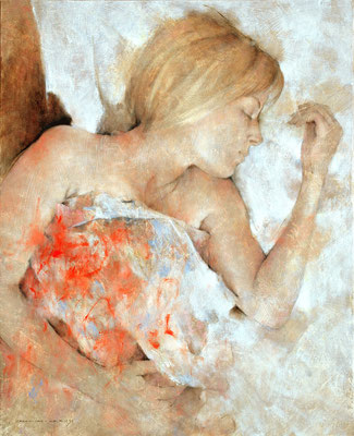 Vulnérable - 100 x 81 - huile sur toile