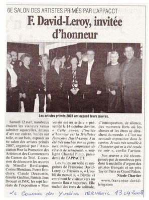 2008_0408 Invitée d'Honneur Espace Bejard à Verneuil APPACC
