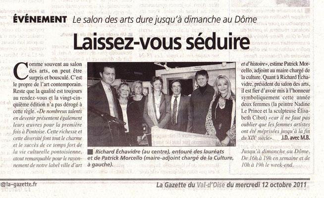 2011_1007 Pontoise avec Nadine Le Prince Michèle Battut Elizabeth Cibot