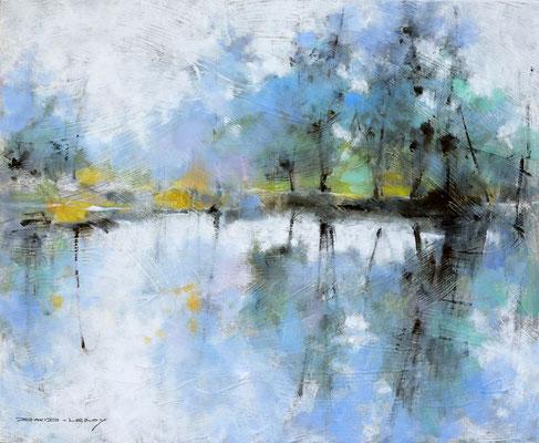 Symphonie bleue - 61 x 50 -  huile / toile