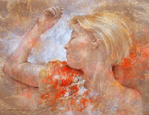 Si blonde - 65 x 50 - huile / toile
