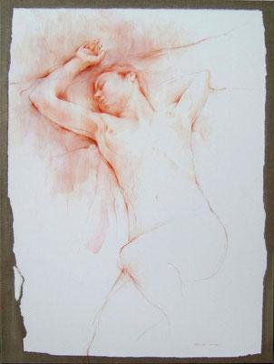 L'oubli du monde - 116 x 89 - sanguine & pastel - Prix Taylor