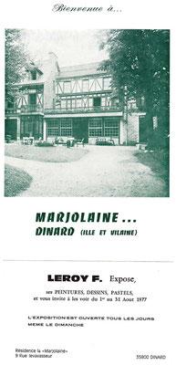 1977_0801 1ère expo perso à Dinard