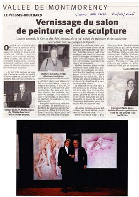 2005_0420 Invitée d'honneur salon du Plessis Bouchard