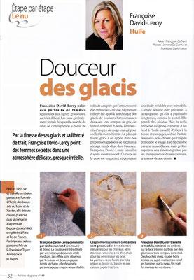 """Artistes Magazine - n° 149 - """"Peindre le nu"""" (Couverture) - janvier / février 2011"""