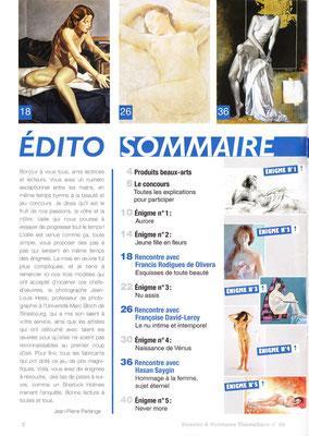 """Dessins et Peintures - n° 28 - Thématique """"L'art du nu"""" - novembre 2011 / janvier 2012"""