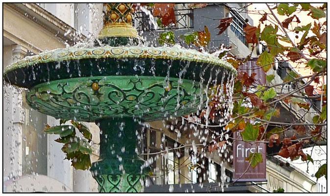 Detailaufnahme vom Brunnen.